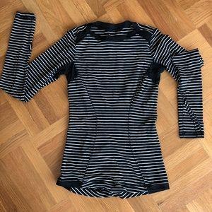 Lululemon long sleeved striped shirt